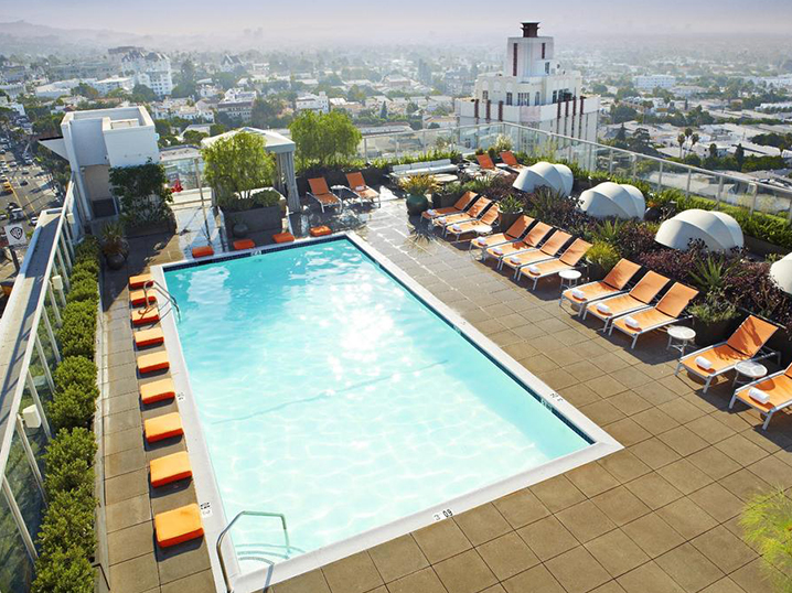 los angeles most hip - pool deck - andaz west hollywood hotel