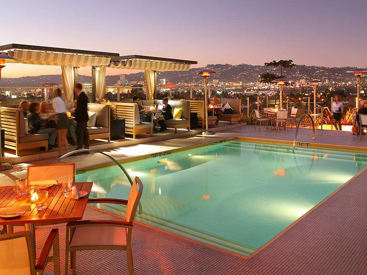 los angeles most fashionable hotel - pool deck - kimpton wilshire hotel