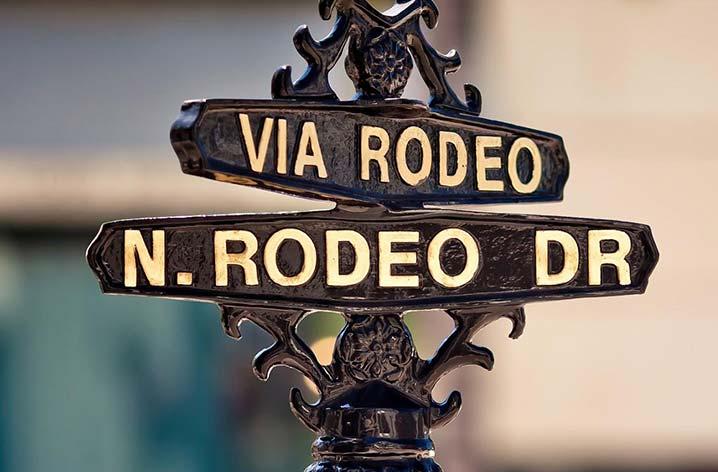los angeles neighborhoods - rodeo drive sign
