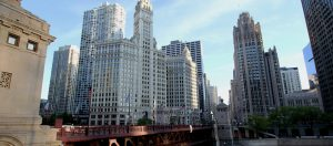 Chicago's iconic Wrigley Building